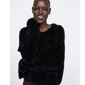 Zara Oversized Chenille Sweater NWT